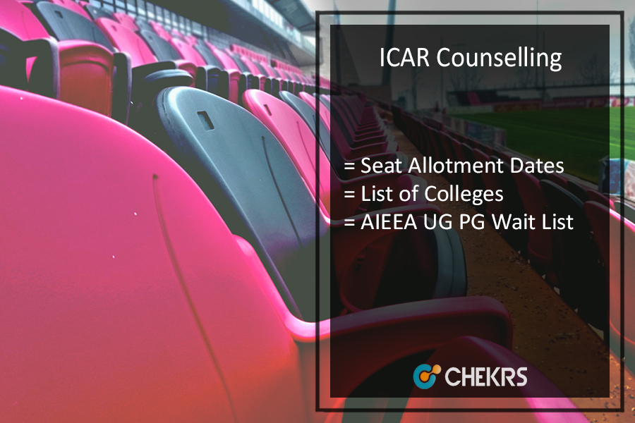 ICAR Counselling - AIEEA UG PG Allotment Dates, Colleges, Wait List