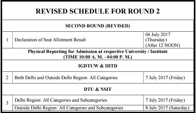 JAC Delhi Second Round Counselling Result - 2nd Seat Allotment To Be Released