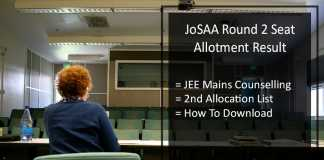 JoSAA Round 2 Seat Allotment Result- JEE Mains Counselling Results