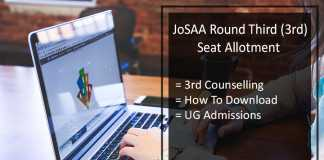 JoSAA Round Third (3rd) Seat Allotment, Stays By SC (Supreme Court)