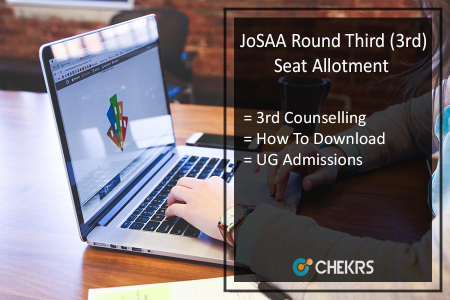 JoSAA Round Third (3rd) Seat Allotment, Stays By SC (Supreme Court)
