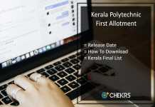 Kerala Polytechnic First Allotment, Final Rank List @polyadmission.org