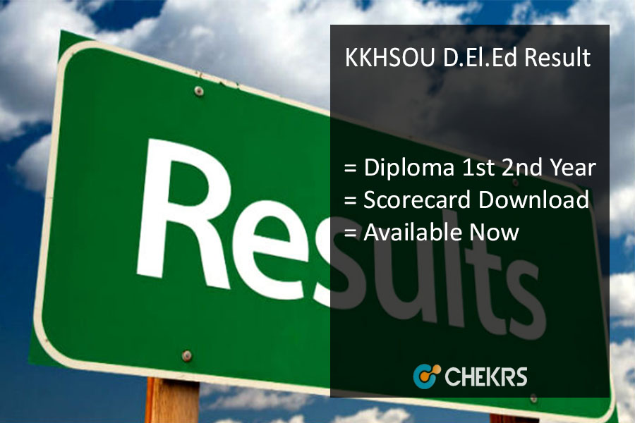 KKHSOU D.El.Ed Result, Diploma 1st 2nd Year Results @kkhsou.in