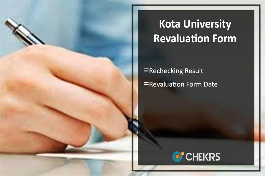 Kota University Revaluation Form Date, Rechecking Result @uok.ac.in