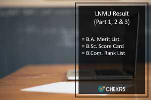 LNMU BA BSC BCOM Result 2019- L N Mithila Univ Part 1-2-3 Results