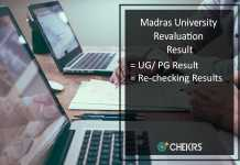 Madras University Revaluation Result - UNOM UG PG April Exam Recheck Results