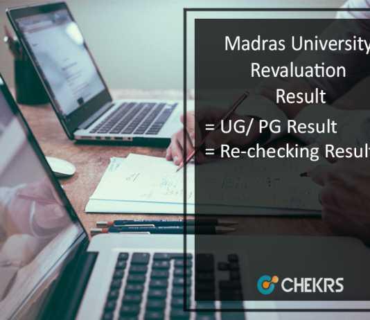 Madras University Revaluation Result - UNOM UG PG April Exam Recheck Results