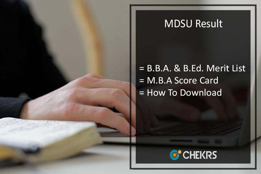 MDSU Result UG PG- BBA B.Ed MBA Results @mdsuexam.org