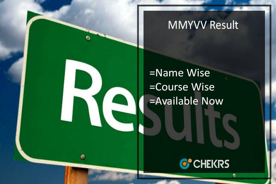 MMYVV Result, BA BSC BCOM DCA BCA MSW PGDCA Results @mmyvv.com