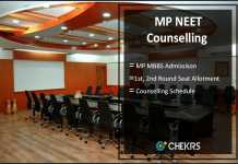 MP NEET MBBS Counselling 2017- 1st & 2nd Round Seat Allotment Result