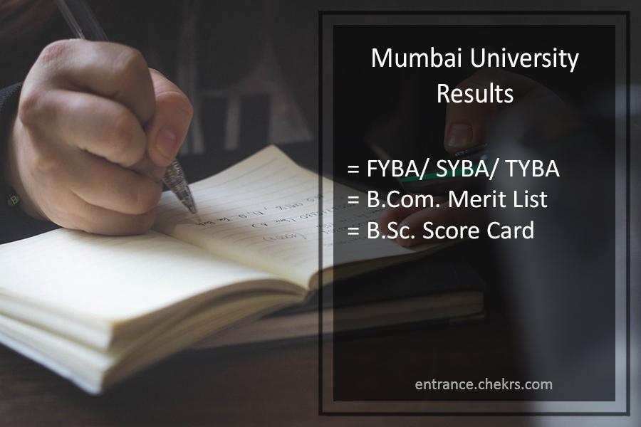 Mumbai University FYBA-SYBA-TYBA Result BCOM BSC Result
