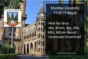 Mumbai University FY-SY-TY Result BA BSC BCOM MA MSC MCOM Results