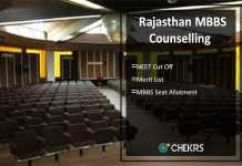 Rajasthan MBBS Counselling, NEET Cut Off, Merit List, Seat Allotment Result