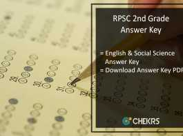 RPSC 2nd Grade English & Social Science Answer Key 2nd July Pdf Download