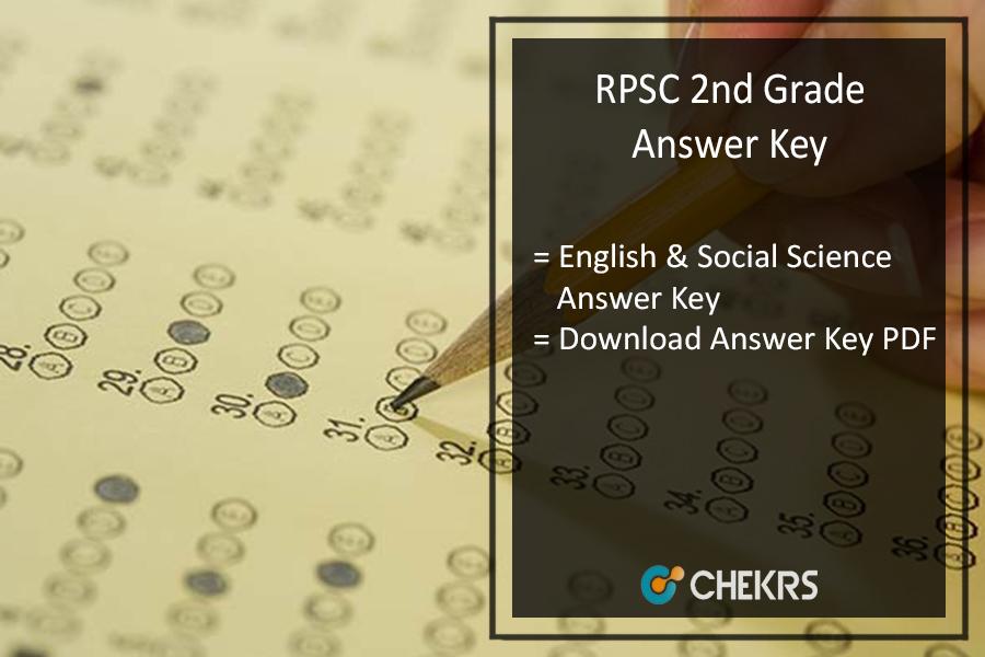 RPSC 2nd Grade English & Social Science Answer Key 2nd July Pdf Download