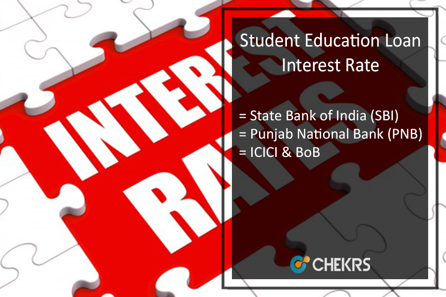 Student Education Loan Interest Rate for SBI, PNB, ICICI, Bank of Baroda