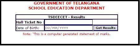 TS DEECET Result , Rank Card (Released) @tsdeecet.cgg.gov.in