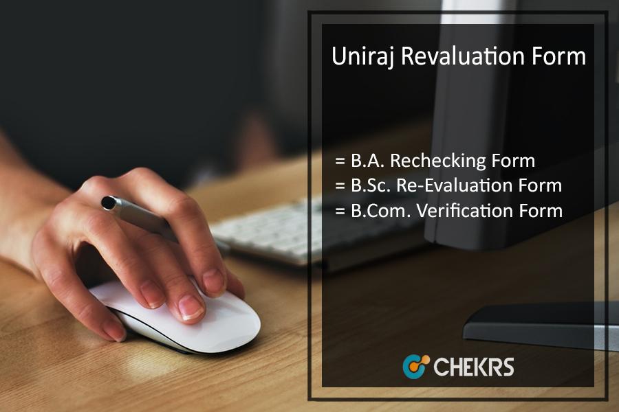 Uniraj Revaluation Form - Raj University BA BSC B.COM Rechecking Form on 6th July