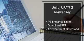 Uniraj URATPG Answer Key Pdf- Download RU PG Entrance Exam Answer Sheet