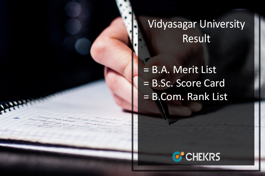 Vidyasagar University Result - BA BSC BCOM (Part 1 2) Results To Be Released
