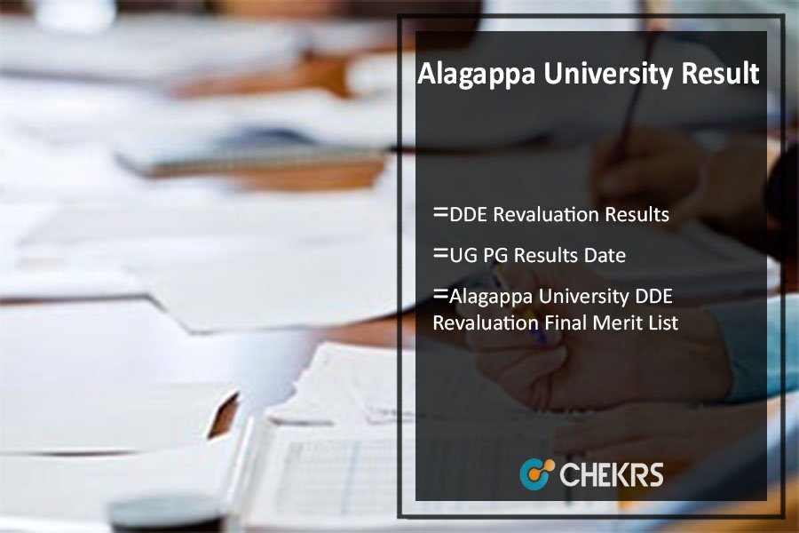 Alagappa University DDE Revaluation Results UG PG Results