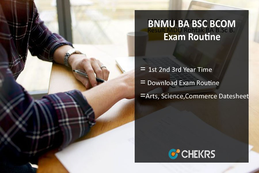 BNMU BA BSC BCOM Exam Routine/ Date - Part 1st 2nd 3rd Year Time Table