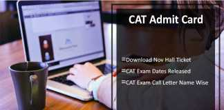 CAT Admit Card, Download Nov Hall Ticket, Exam Dates Released