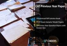 CAT Previous Year Papers- Download Pdf Solution Book of Sample/ Model Papers