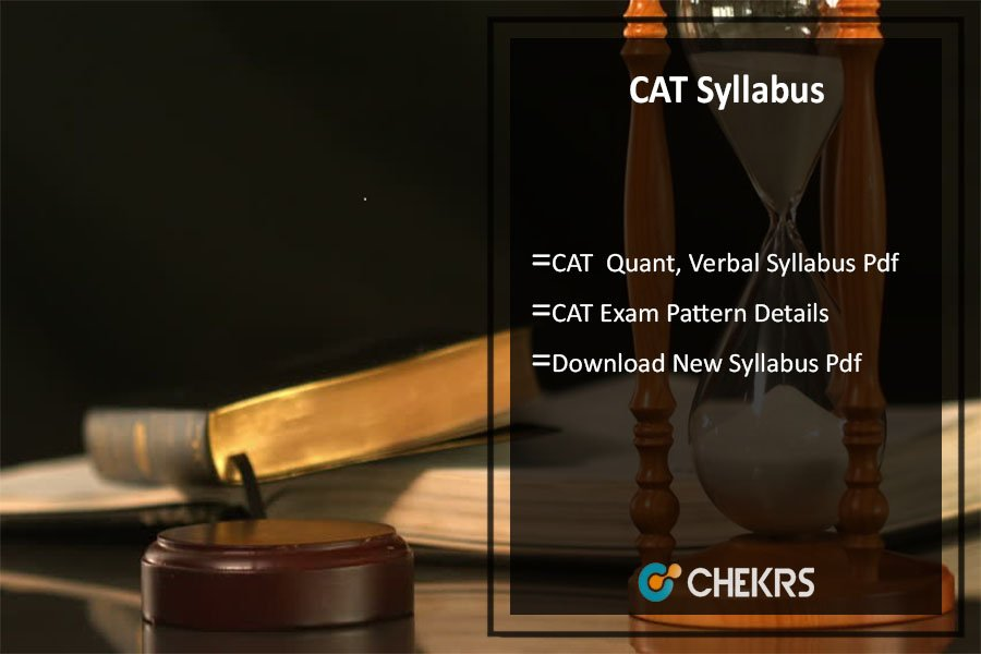 CAT Syllabus, Quant, Verbal, Reasoning Exam Pattern Pdf Download