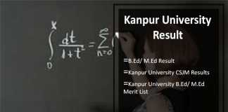 Kanpur University B.Ed/ M.Ed Result, CSJM Results @kanpuruniversity.org