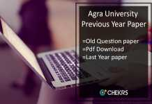 Agra University Previous/ Old Year Paper- DBRAU Sample Question Papers