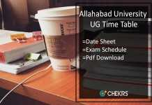 Allahabad University Time Table AU BA B.SC B.Com 1st-2nd-3rd Year Date Sheet