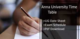 anna university ug time table