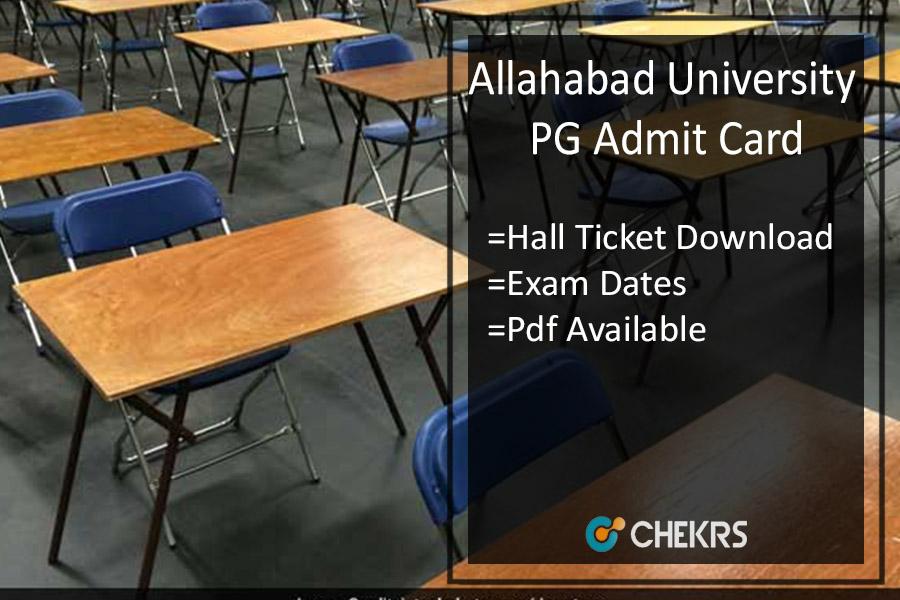 Allahabad University PG Admit Card - MA MSC MCOM Hall Ticket Download