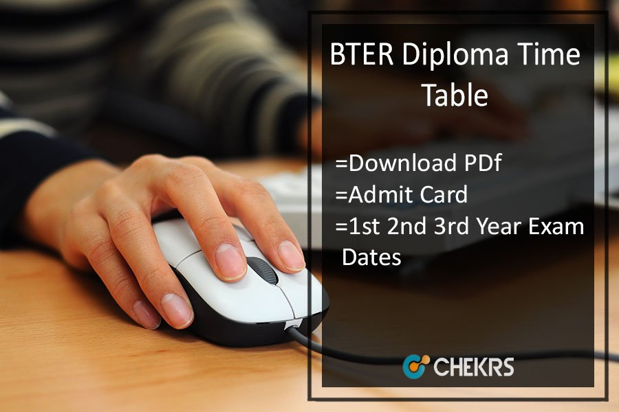 BTER Diploma Time Table - Polytechnic 1st 2nd 3rd Year Admit Card