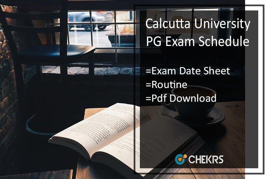 Calcutta University PG Exam Schedule - MA MSC MCOM Date Sheet