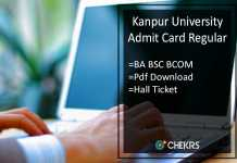 Kanpur University BA B.SC B.COM Admit Card Regular - CSJM 1st-2nd-3rd Year