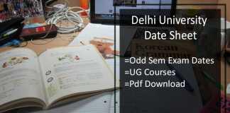 DU Date Sheet Nov/ Dec - BA B.SC B.Com 1 3 5 Sem Exam Dates