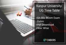 Chhatrapati Shahu Ji Maharaj University Time Table - CSJM BA B.SC B.COM Date Sheet