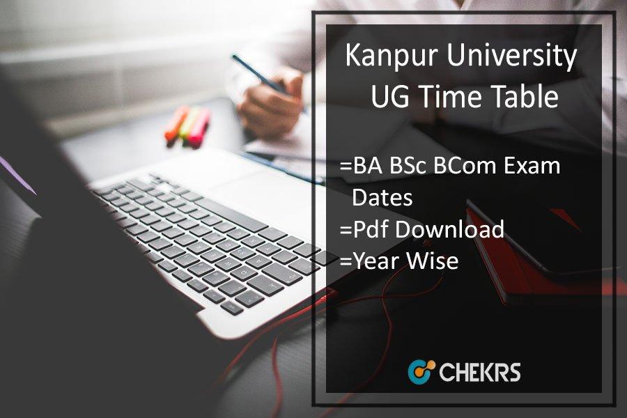 ChhatrapatiShahu Ji Maharaj University Time Table - CSJM BA B.SC B.COM Date Sheet