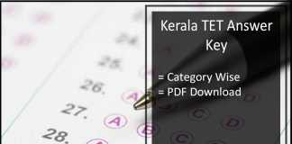 Kerala TET Answer Key - Category 1 2 3 4 Solutions Download