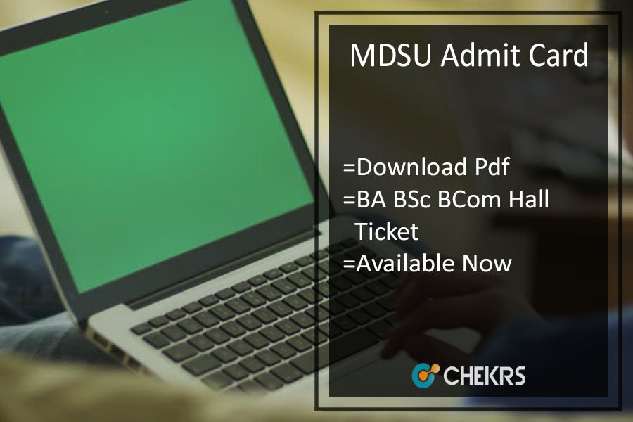 MDSU BA BSC BCOM Admit Card - MDS Univ 1st-2nd-3rd Year Roll No