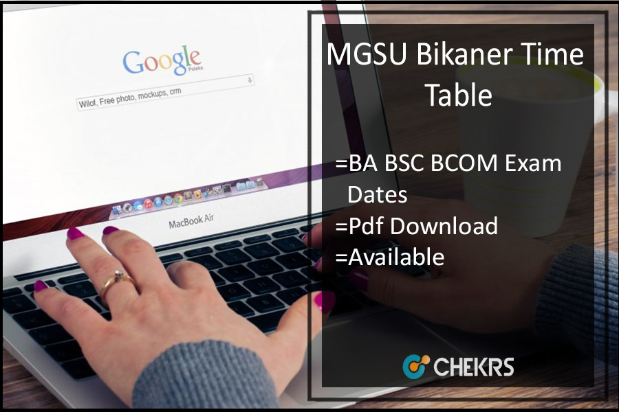 MGSU Bikaner Time Table - BA B.SC B.Com 1st-2nd-3rd Year Date Sheet