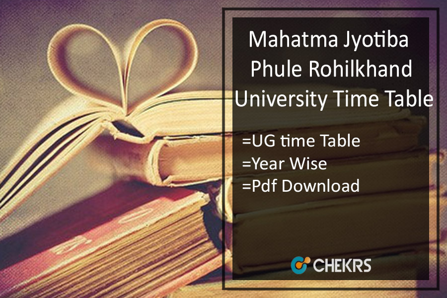 MJPRU BA B.SC B.COM Time Table - Rohilkhand 1st 2nd 3rd Year Exam Scheme