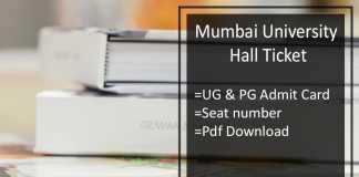 Mumbai University BA BSC BCOM Hall Ticket - MA MSC MCOM Admit Card