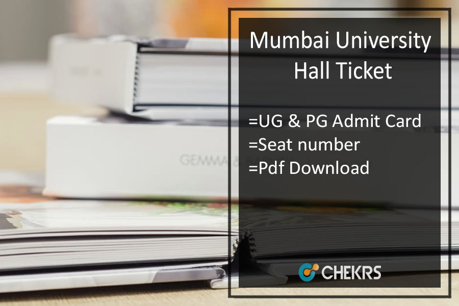 Mumbai University BA BSC BCOM Hall Ticket - MA MSC MCOM Admit Card