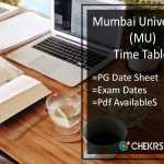 Mumbai University Time Table - MA MSC MCOM Exam Date Sheet