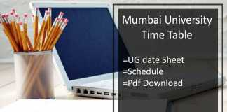 Mumbai University Time Table - FY-SY-TY BA BSC BCOM Exam Date Sheet