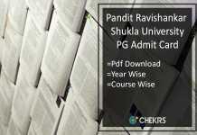 PRSU Admit Card - prsu.ac.in MA M.SC M.COM Admit Card Download
