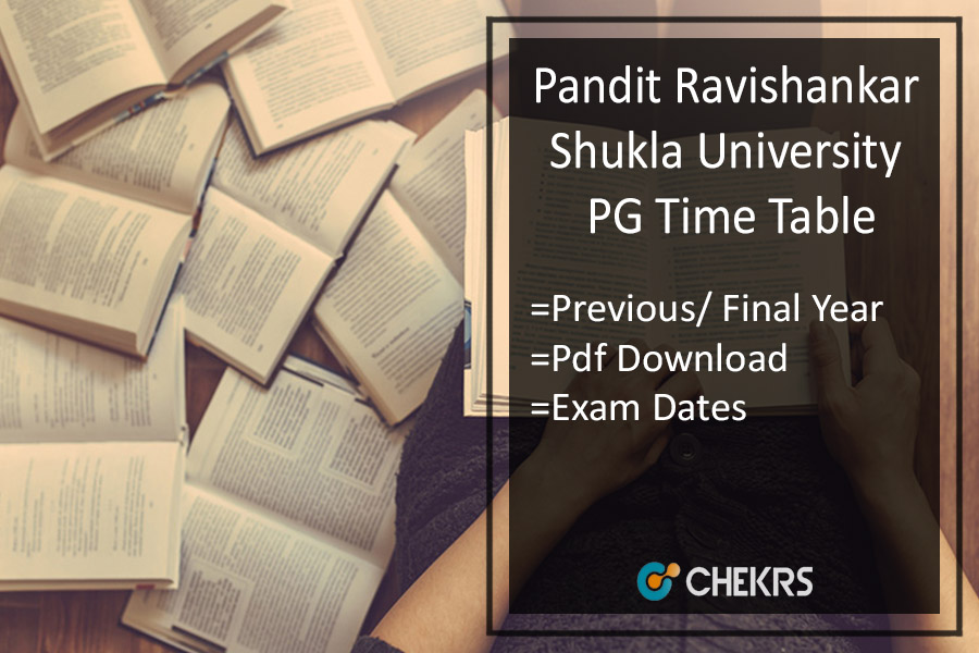 PRSU PG Time Table - MA M.SC M.COM Previous/ Final Exam Date